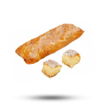Ioniki Mini bougatsa met vanillesaus