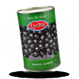 Zwarte olijven 28-30, met pit