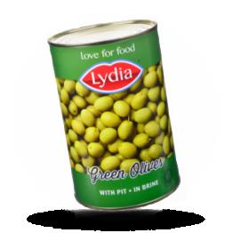 Groene olijven 28-30, met pit