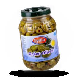 Groene Griekse olijven Super collosal met paprika