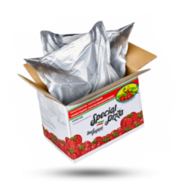 Italiaanse tomatenpulp 6x6mm Bag in Box