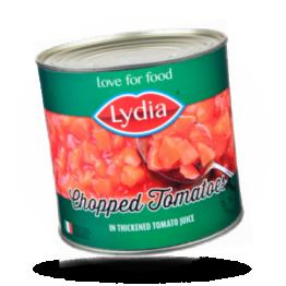 Lydia Gehakte tomaten In ingedikt tomatensap