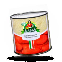 Gepelde tomaten In ingedikt tomatensap
