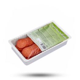 Gesneden peperoni salami Kalkoen en rundvlees, Halal