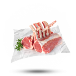 Lams Frenched Rack 75mm 8/ribs, diepvries