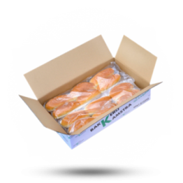 Puntbroodjes Wit ,voorgesneden, diepvries