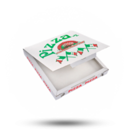 Pizzabox 22x22x3cm, C., Italiaanse vlag