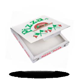 Pizzabox 28x28x3cm, C., Italiaanse vlag