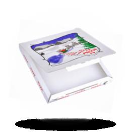 Pizzabox Feestdagen-editie 32x32x3cm C. Kraft/Kraft