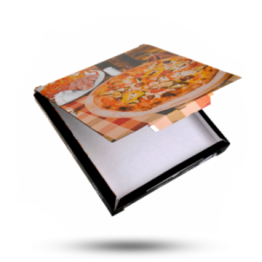Pizzabox 30x30x3cm C. Kraft/Kraft Zwart