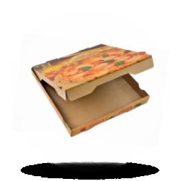 Pizzabox 20x20x4cm Francia Kraft/Kraft bruin