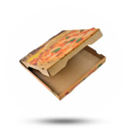 Pizzabox 22x22x4cm Francia Kraft/Kraft bruin