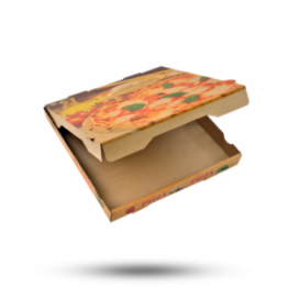 Pizzabox 24x24x4cm Francia Kraft/Kraft bruin