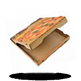 Pizzabox 26x26x4cm Francia Kraft/Kraft bruin