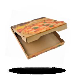 Pizzabox 28x28x4cm Francia Kraft/Kraft bruin