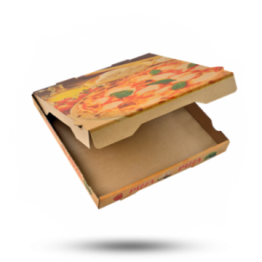Pizzabox 29x29x4cm Francia Kraft/Kraft bruin