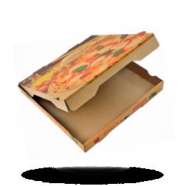 Pizzabox 30x30x4cm Francia Kraft/Kraft bruin