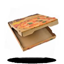 Pizzabox 31x31x4cm Francia Kraft/Kraft bruin