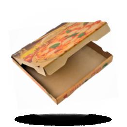 Pizzabox 32x32x4cm Francia Kraft/Kraft bruin
