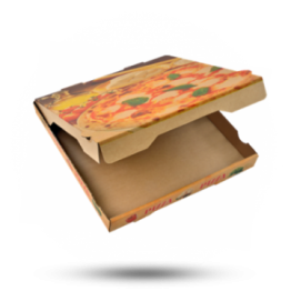 Pizzabox 33x33x4cm Francia Kraft/Kraft bruin
