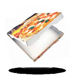 Pizzabox 26x26x4cm Francia Kraft