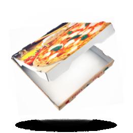 Pizzabox 32x32x4cm Francia Kraft