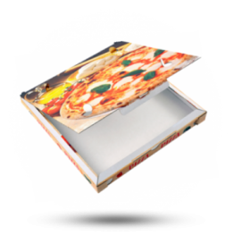 Pizzabox 32x32x3cm C. Kraft/Kraft