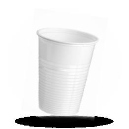Drinkbekertjes 180cc, plastic, wit