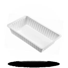 Patatbakjes A14, plastic, wit
