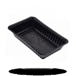 Patatbakjes A14, plastic, zwart