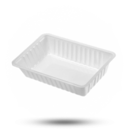 Patatbakjes A13, plastic, wit