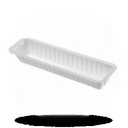 Frikandelbakjes A16S, plastic, wit