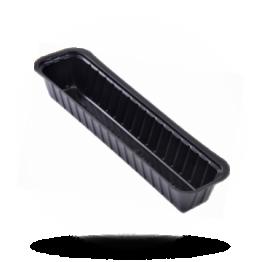 Frikandelbakjes A16S, plastic, zwart