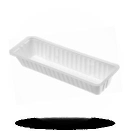 Frikandelbakjes A16N, plastic, wit