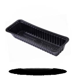 Frikandelbakjes A16N, plastic, zwart