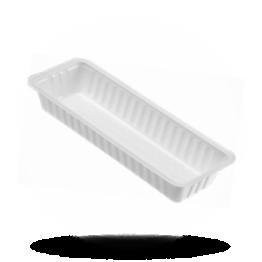 Frikandelbakjes A18, plastic, wit