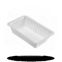 Patatbakjes A9, plastic, wit