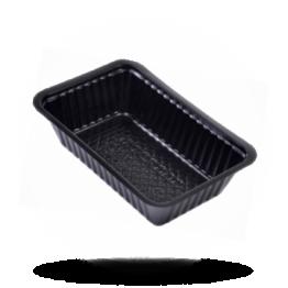 Patatbakjes A9, plastic, zwart