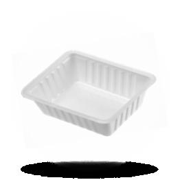 Patatbakjes A7, plastic, wit