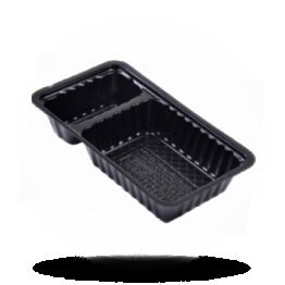 Patatbakjes A7, plastic, zwart