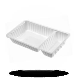 Patatbakjes A20, plastic, wit