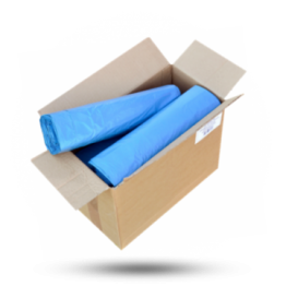 Vuilniszakken 120L, 70x110cm, blauw, 38mu