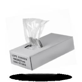 Polyzakken 10x4+4x27cm, LDPE transparant
