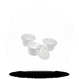Cupje met deksel 30cc wit/transparant