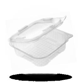 Diamond Pack Saladebakje met klapdeksel 375cc, rechthoekig