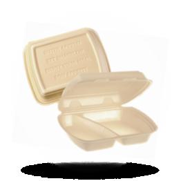 Menuboxen IP4, 2-vaks, beige