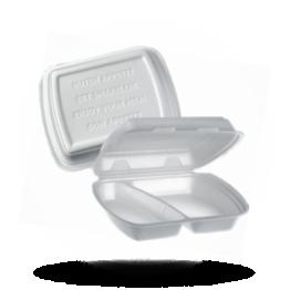Menuboxen 2-vaks, wit