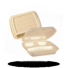 Menuboxen HP4, 3-vaks, beige