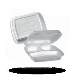 Menuboxen 3-vaks, wit