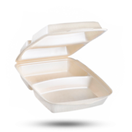 Dinnerbox 2-vaks, gelamineerd, beige